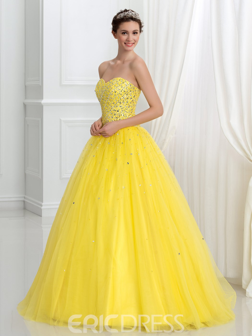 Ericdress Sweetheart perles Sequins Lace-Up robe de Quinceanera