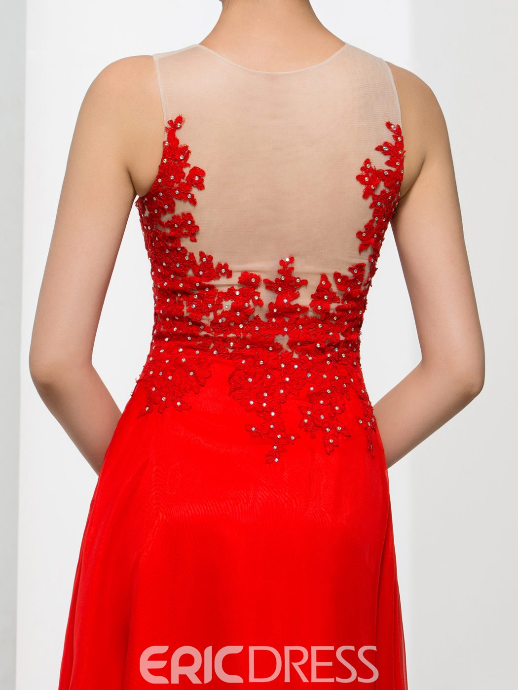 Ericdress A-Line Appliques Beading Long Prom Dress