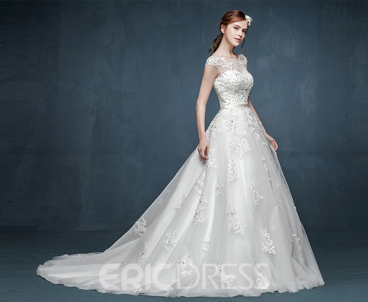 Ericdress Charming Appliques A Line Wedding Dress