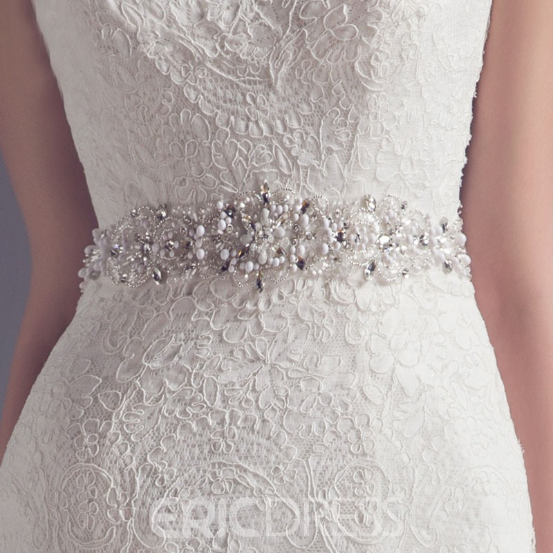 Ericdress Fancy Scoop Lace Mermaid Brautkleid