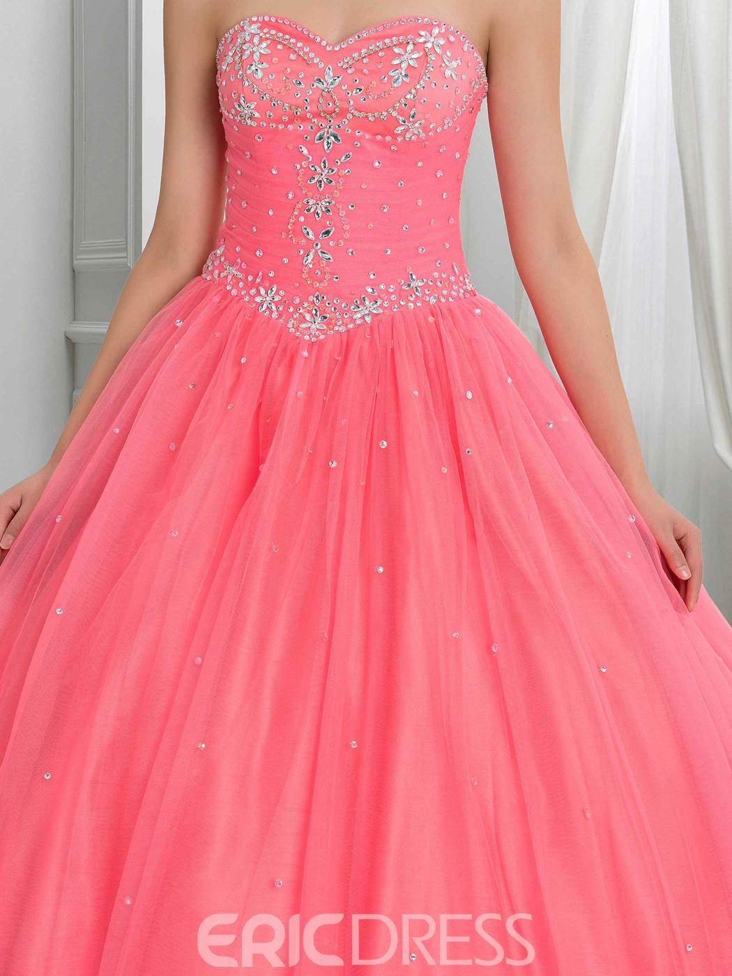 Ericdress Sweetheart Beading Lace-Up Quinceanera Dress