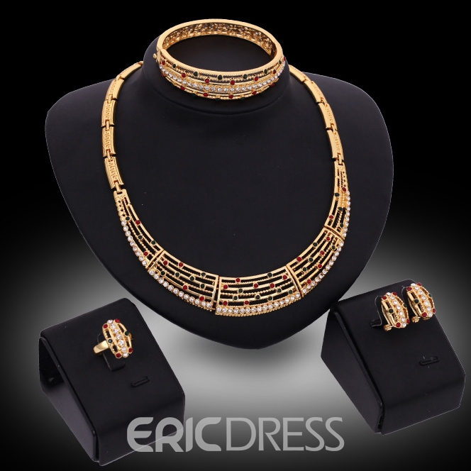 Ericdress Europeamerica Diamante Jewelry Set