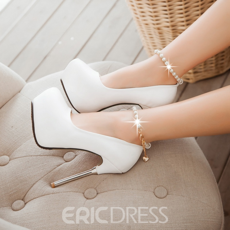 Ericdress Pearl Ankle Strap Prom Shoes