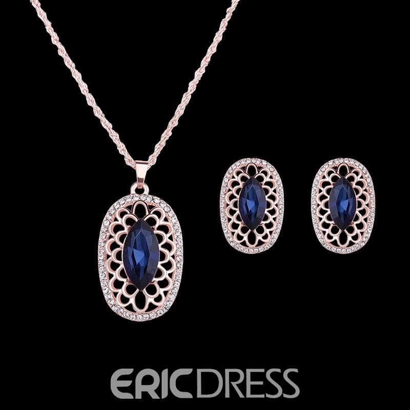 Ericdress Hollow Rhinestone Jewelry Set