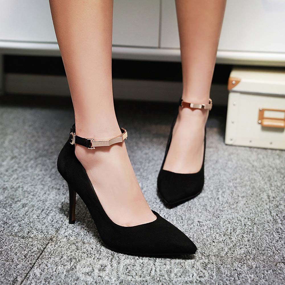 Ericdress Suede Ankle Strap Prom Shoes