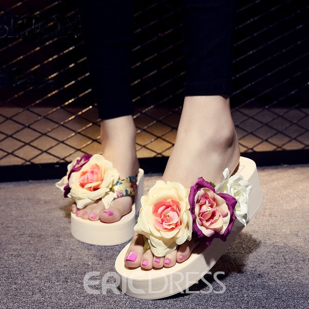 Ericdress Lovely Flower Summer Beach Slippers