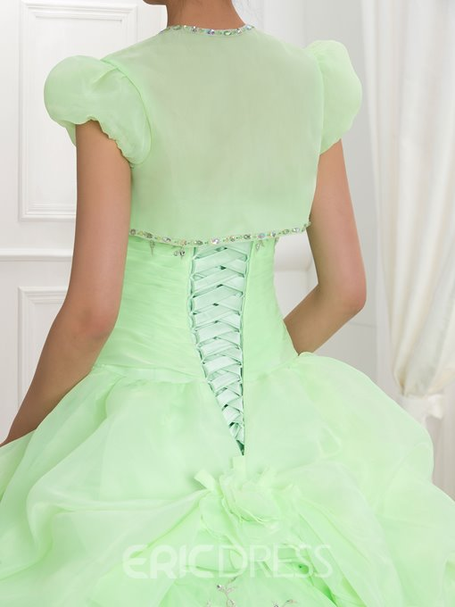 Ericdress Sweetheart Embroidery Beading Ball Gown Quinceanera Dress With Jacket
