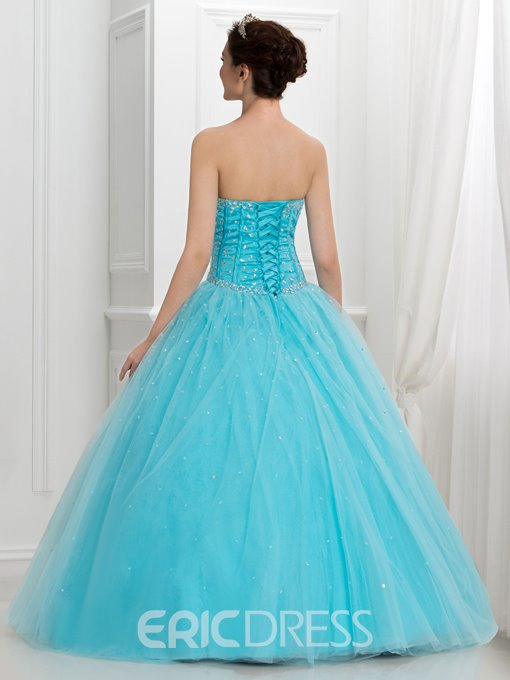 Ericdress Sweetheart Beading Crystal Ball Gown Quinceanera Dress