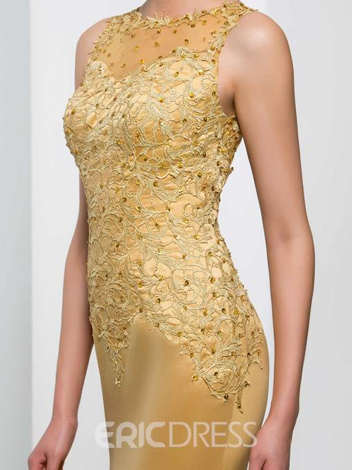 Ericdress Straps Appliques Sequins Mermaid Evening Dress