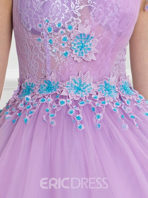 Ericdress Scoop Appliques Sequins Lace Ball Gown Quinceanera Dress