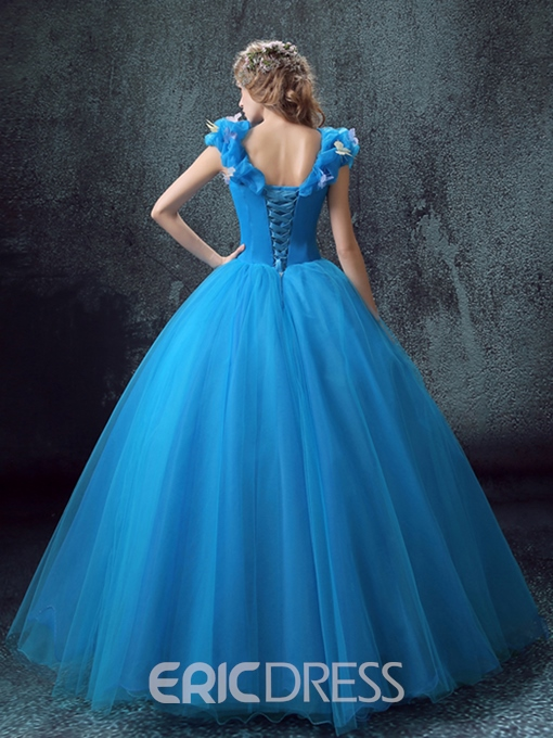 Ericdress Appliques Ball Quinceanera Dress With Lace-Up Back