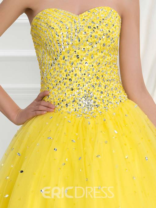 Ericdress Sweetheart Beading Sequins Lace-Up Quinceanera Dress