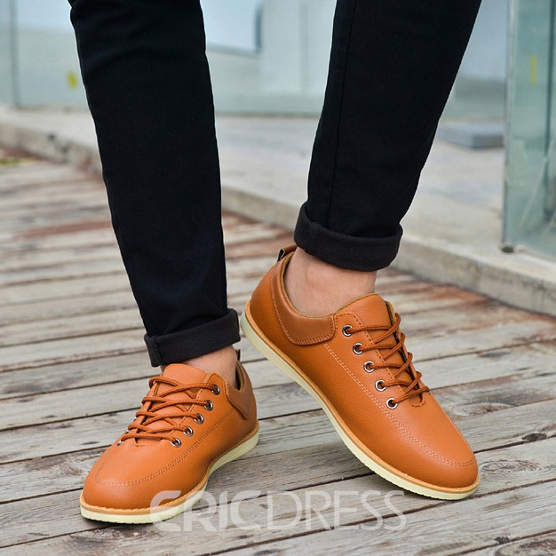 Ericdress Pu Solid Color Men's Casual Shoes