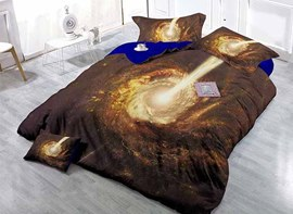 Attractive Galaxy Vortex Digital Printing Satin Drill 4-Piece Duvet Cover Sets