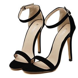 Ericdress Simple Ankle Strap Stiletto Sandals