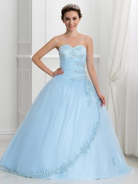 Dramatique Sweetheart perles Lace-Up Ball robe robe de Quinceanera