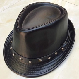 Ericdress Gentlemen Style PU Rivet Jazz Hat for Men