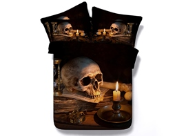 Ericdress Skull Head Print 3D Bedding Sets
