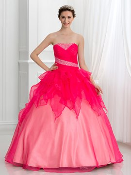 Ericdress bretelles perles plis robe de Quinceanera Lace-Up