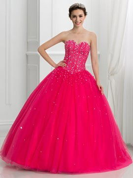 Ericdress Sweetheart perles robe de Quinceanera dramatique Lace-Up