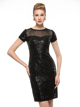 Ericdress Charming Sequins Short Mother Of The Bride Dress