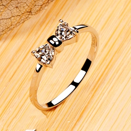 Ericdress Bowknot Imitation Diamond Ring for Women