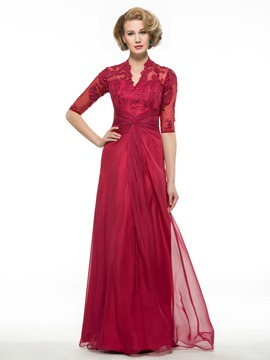 Ericdress elegante Applikationen eine Linie Mutter der Braut Kleid