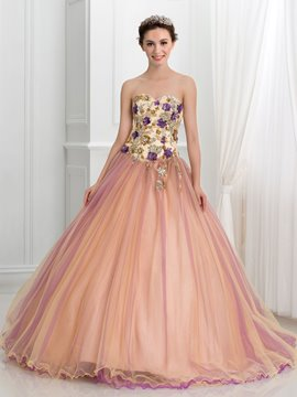Ericdress Sweetheart Beaded Sequins Ball Gown Quinceanera Dress