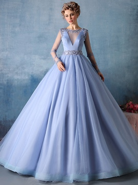 Ericdress Flowers Ball Gown Floor Length Quinceanera Dress