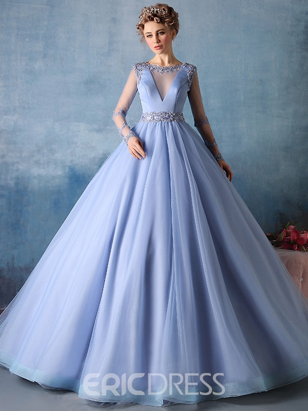 0b1af5e0a1a Ericdress Flowers Ball Gown Floor Length Quinceanera Dress