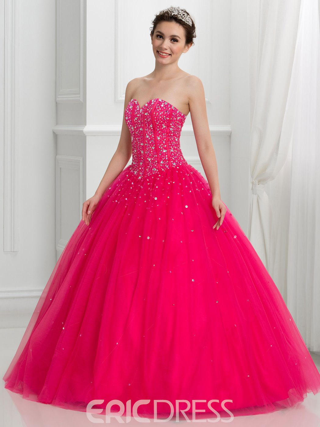 Ericdress Sweetheart Beading Lace-Up Dramatic Quinceanera Dress