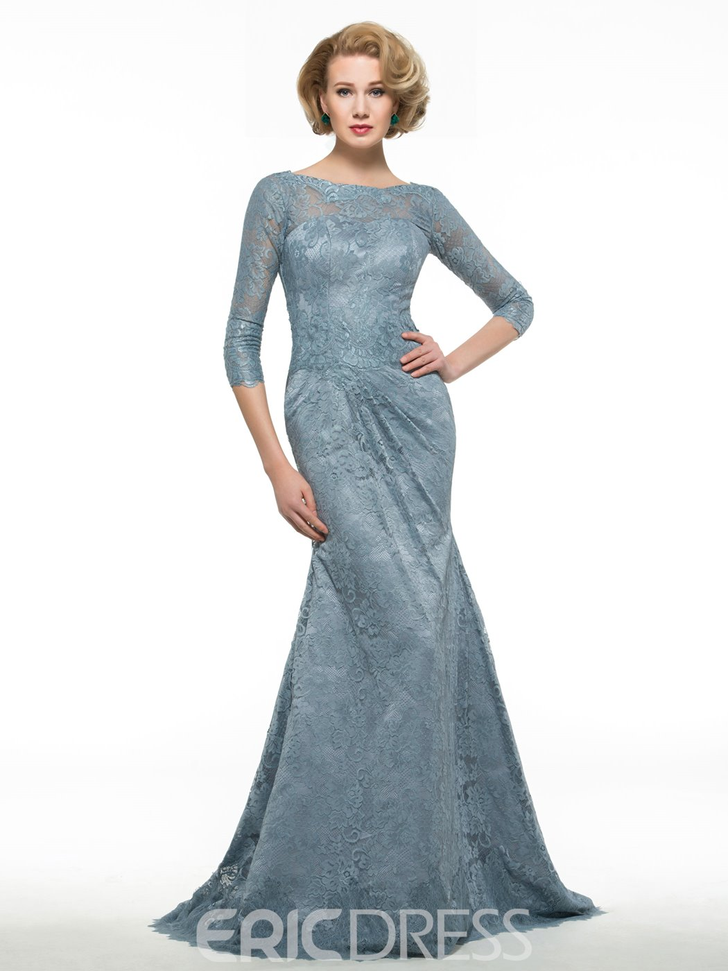 Ericdress Elegant Bateau Mermaid Lace Mother Of The Bride Dress