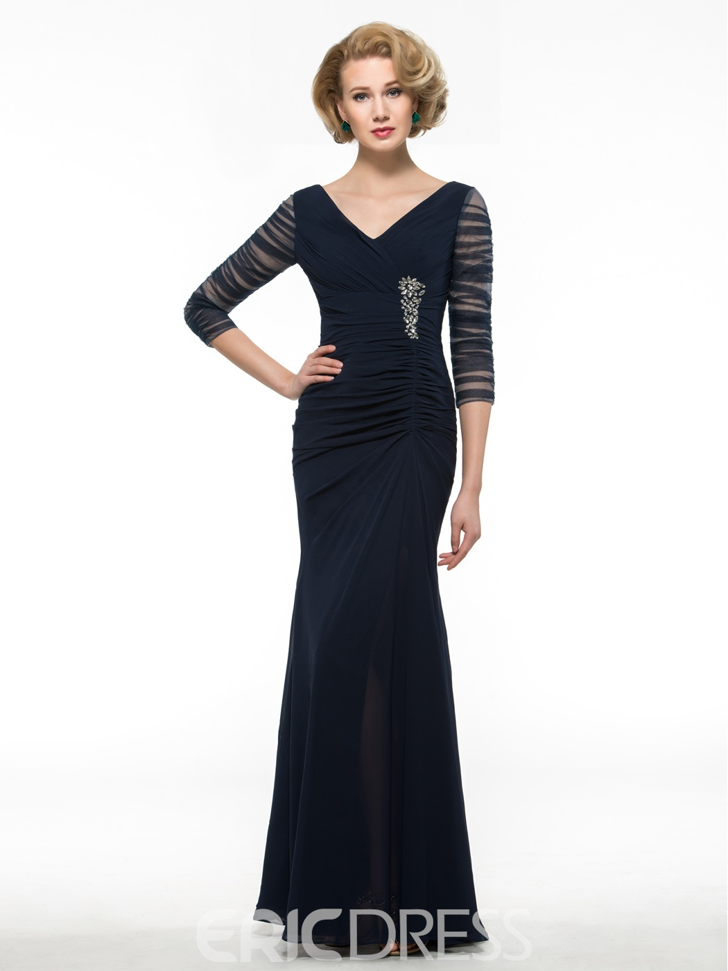 Ericdress High Quality V Neck Long Mother Of The Bride Dress