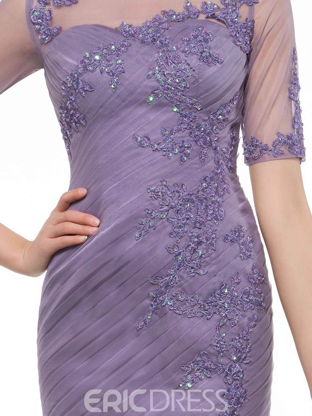 Ericdress Charming Appliques Short Mother Of The Bride Dress