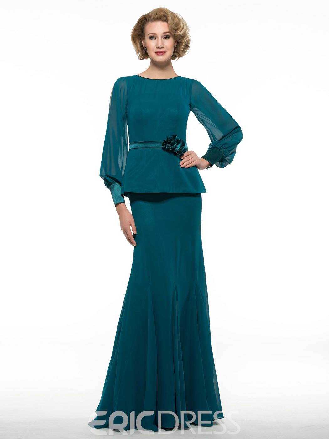 Ericdress Elegant Long Sleeves Mother Of The Bride Dress