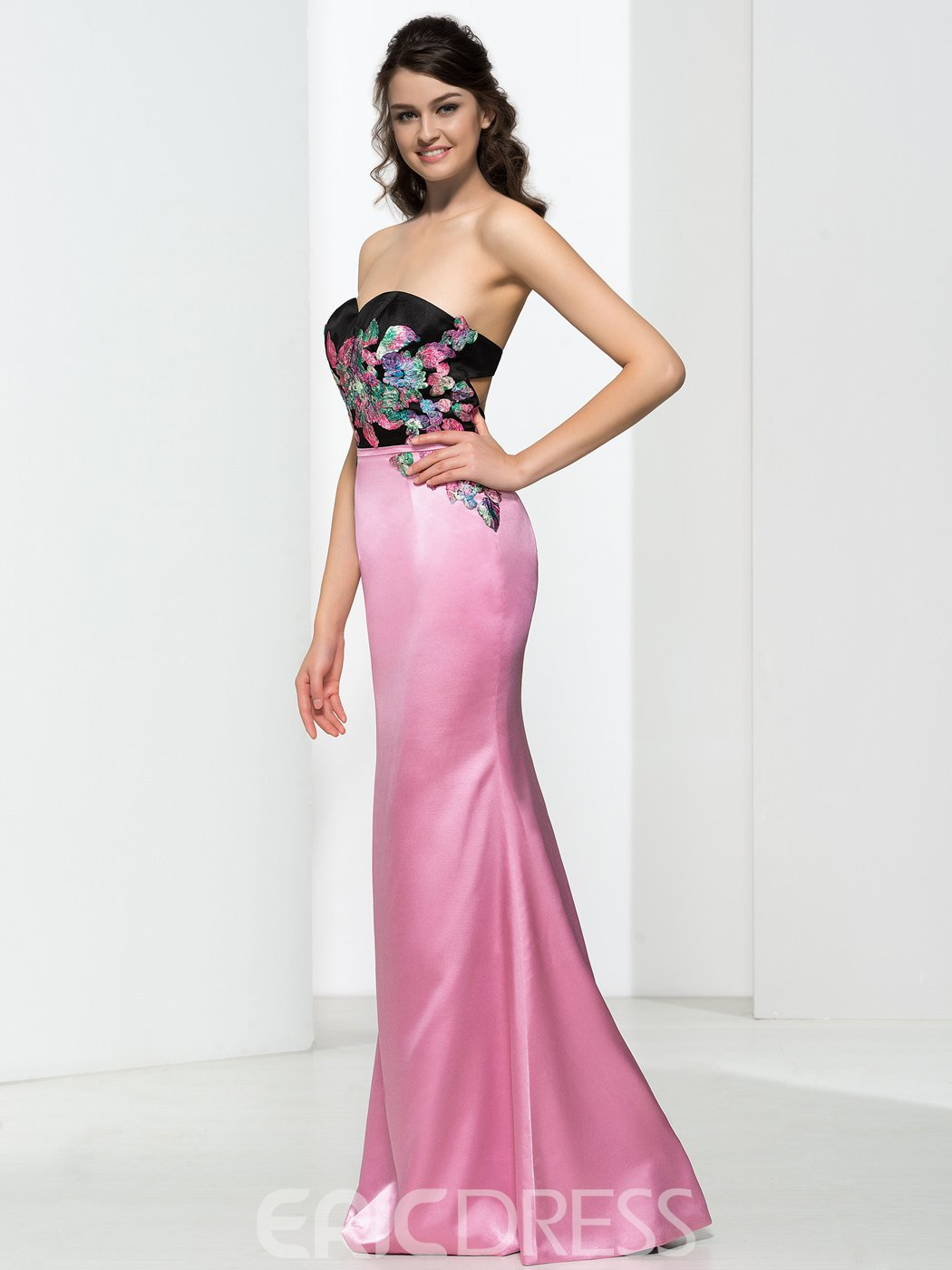 Ericdress Sweetheart Appliques Hollow Prom Dress
