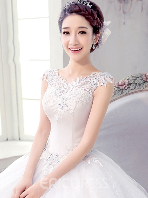 Ericdress Appliques Sequins Ball Gown Wedding Dress