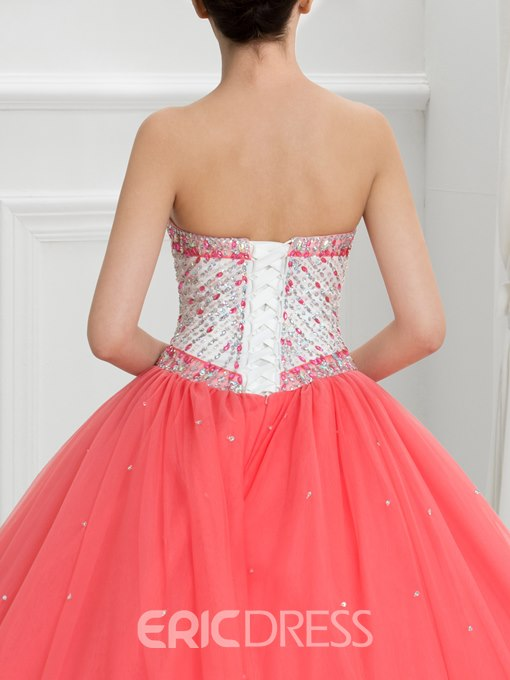 Ericdress Sweetheart Beading Sequins Ball Gown Quinceanera Dress With Jacket