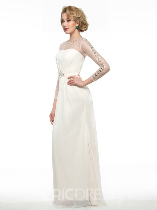 Ericdress Beading Sheath Long Sleeve Mother Of The Bride Dress