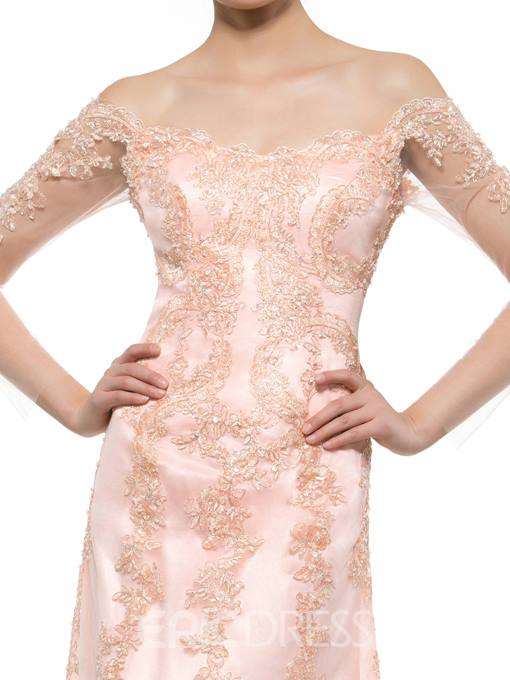 Ericdress Elegant Off The Shoulder Appliques Long Sleeves Mother Of The Bride Dress
