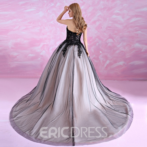 Ericdress Sweetheart Lace Appliques Ball Gown With SweepTrain