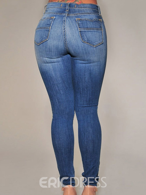 Ericdress Skinny Hollow Pencil Jeans