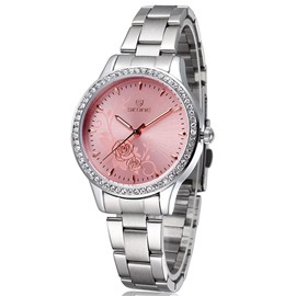 Ericdress sculpture pivoine Business montres pour dames