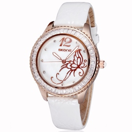 Ericdress Trendy Butterfly Dial Wrist Watch For Women