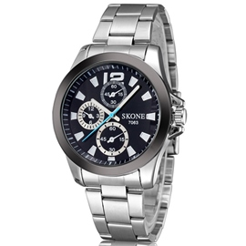 Ericdress Simple deporte correa de acero Watch de Men