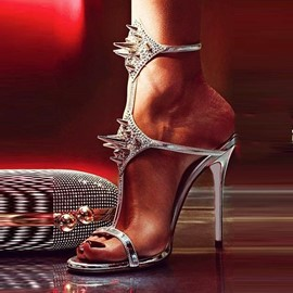 Ericdress Rivets Decorated Stiletto Sandals