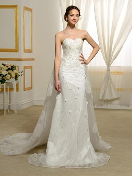 Ericdress Exquisite Sheath Lace Wedding Dress
