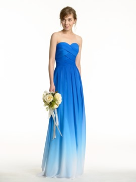 Ericdress Beautiful Fading Color Long Bridesmaid Dress