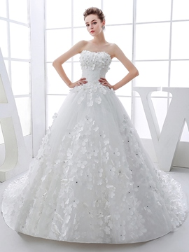 Ericdress Sweetheart Flowers Ball Gown Wedding Dress