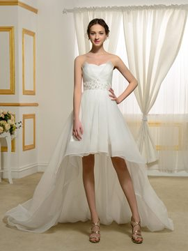 Ericdress Charming Sweetheart Asymmetry Beach Wedding Dress